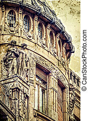 Old postcard of one historical building. Timisoara 13