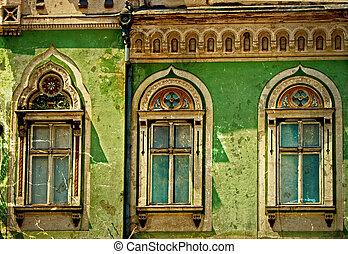 Old postcard of one historical building. Timisoara, Romania 16