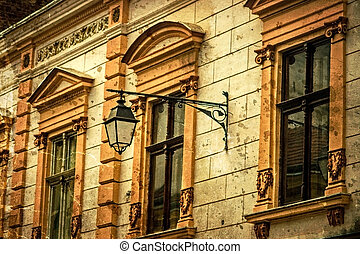 Old postcard of one historical building. Timisoara, Romania -21