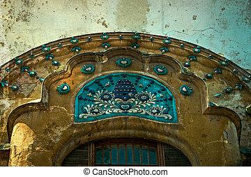 Old postcard of one historical building. Timisoara, Romania -22