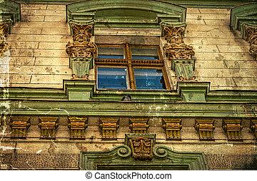 Old postcard of one historical building. Timisoara, Romania -23