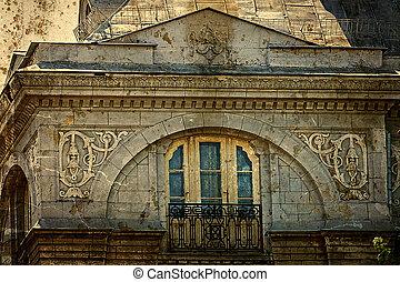 Old postcard of one historical building. Timisoara, Romania 24