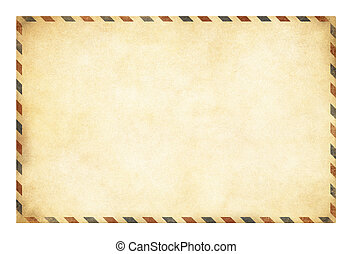 Old postcard template with clipping path included - Blank...