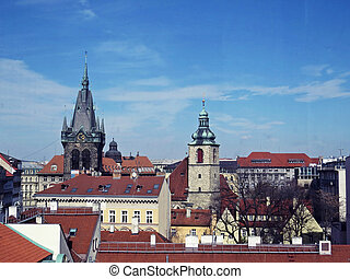 Old Prague Tower and Church