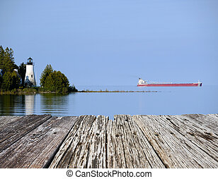 Old Presque Isle Lighthouse, built in 1840