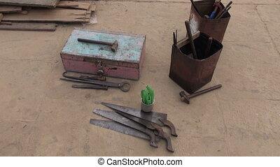 old primitive carpenter tools