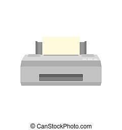 Old printer icon, flat style