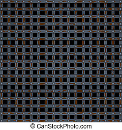 Old prison bars black