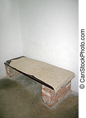 Old Prison Cell Bed at Stirling Castle in Scotland