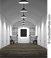 Old prison cell block