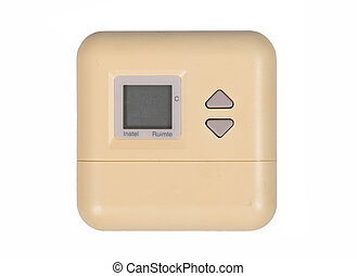 Old programmable thermostat for setting the room temperature