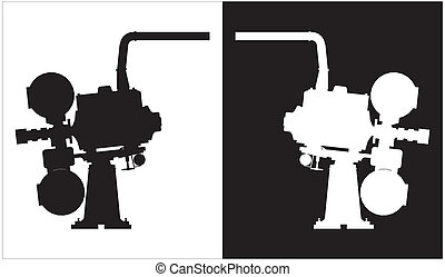 Old Projector Camera Silhouettes