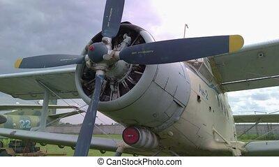 Old propeller jet Soviet aviation AN-2