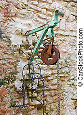 old pulley