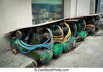 Old pump compressor outside