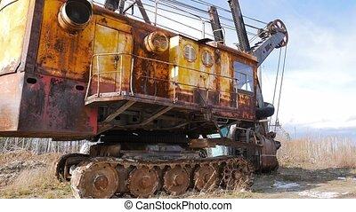 Old quarry Loader. Russia. UltraHD (4K)