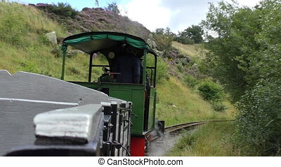 Old quarry steam train - Riding an old small steam engine...