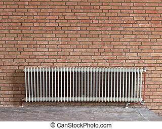 Old radiator heating