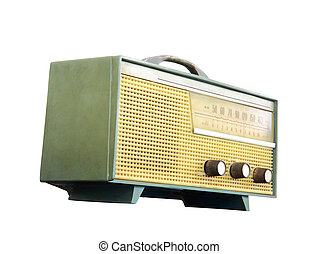 Old radio, clipping path