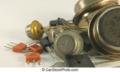 Old Radio components transistors, the times of the USSR