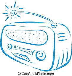 old radio - vintage old radio retro style vector...