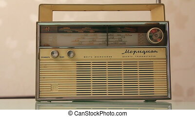 old radio receiver tune in