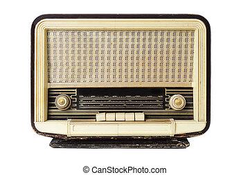 old radio receptor - closeup of an old radio receptor on a...