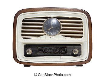 vintage radio isolated on the white background