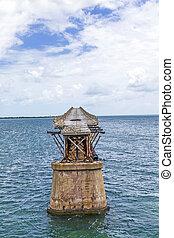 old Railroad Bridge on the Bahia Honda Keys - The old...