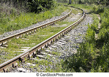 old railroad - Old Railroad Tracks Converging Into Distance