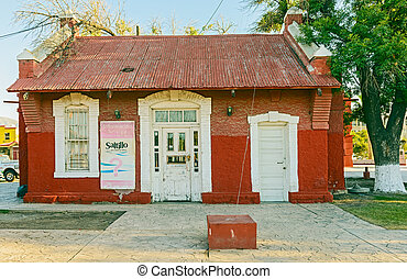 Old railway building in Saltillo, Mexico - Saltillo, Mexico...