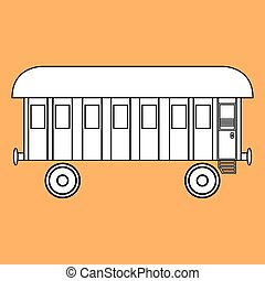 old railway car.vector illustration.