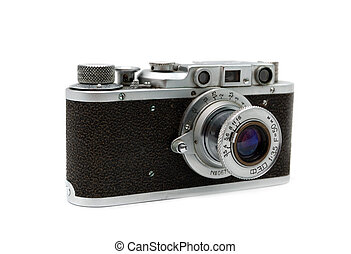 vintage camera - Old rangefinder vintage camera against ...