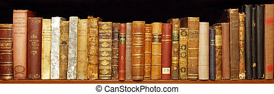 Old rare books in a private library