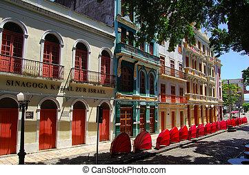 Old Recife, façade of the historical center