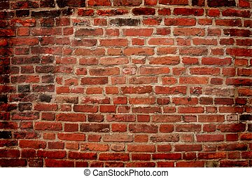 old red and brick wall, can use as background