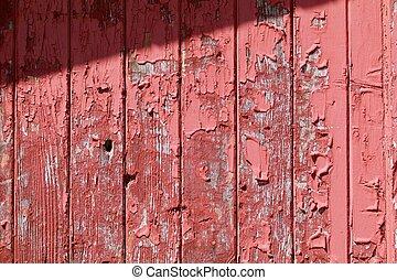 Old Red Barn Peeling Siding