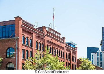 Old Red Brick Building in Denver
