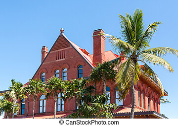 Old Red Brick Building in Tropics