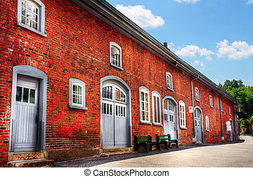 Old red brick building - Very old, historical, red brick...