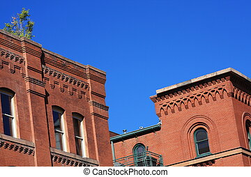 Old Red Brick Buildings Series 1