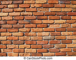 Old Red Brick Exterior Wall