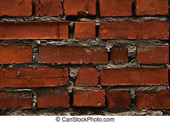 old red brick wal