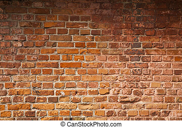 old red brick wall as a background