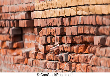 Red Brick Wall - Old Red Brick Wall for background
