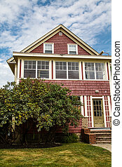 Old Red Clapboard House