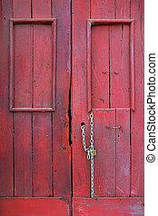 Old Red Door Detail