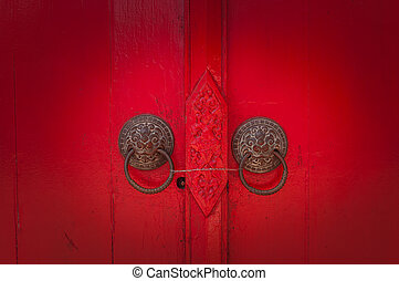 Old Red Door Stock Photographyby ...