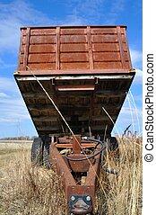 Old Red Farm Truck Box