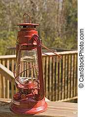 Old Red Lamp